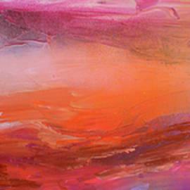 Abstract Acrylic Sunset Landscape New Horizon 2 by Soos Roxana Gabriela Art Print by Soos Roxana Gabriela
