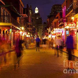 New Orleans, Bourbon Street At Night by Bryan Mullennix