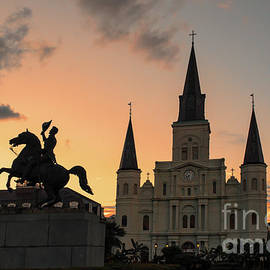 Saint Louis Cathedral New Orleans Sunset by Bee Creek Photography - Tod and Cynthia