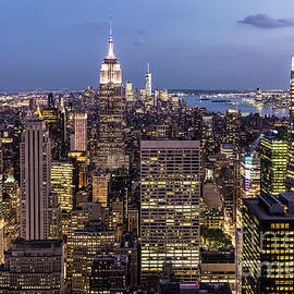New York City At Night by Didier Marti
