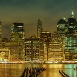 NEW YORK CITY Impression bei Nacht - Panoramic - Melanie Viola