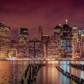 NEW YORK CITY Nightly Impressions - Panoramic - Melanie Viola