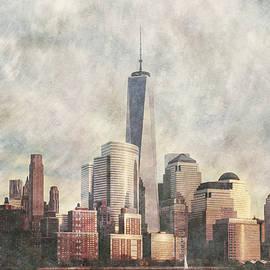 New York City Skyline Including The World Trade Centre by Anthony Murphy