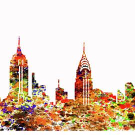 Sir Josef - Social Critic -  Maha Art - New York City Skyline