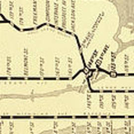 New York City Subway Map Vintage - Mindy Sommers