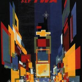 New York - Geometric Abstract Vintage Poster - Studio Grafiikka