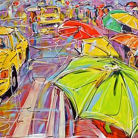 New York - rainy street by Mathias Kleien Atelier Online