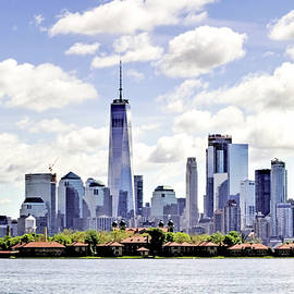 Geraldine Scull - New York skyline and Ellis Island