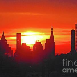 Regina Geoghan - New York Skyscrapers at Sunrise