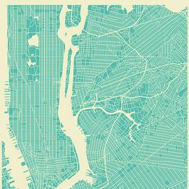 NEW YORK STREET MAP - Jazzberry Blue