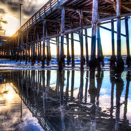 Jim Carrell - Newport Beach Pier - Reflections
