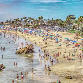 Newport Corona Beach by David Zanzinger