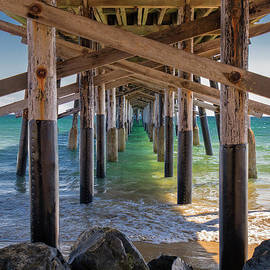 Newport Pier by Mariola Bitner