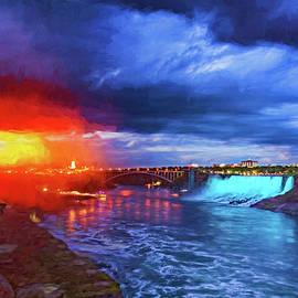 Steve Harrington - Niagara Falls Light Show - Impasto