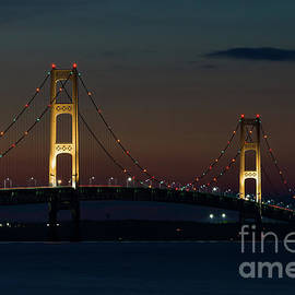 Jennifer White - Night At Mackinac Bridge