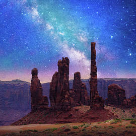 R christopher Vest - Night At The Totem Rocks, Monument Valley