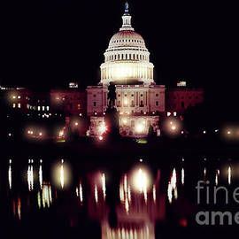 Night - At - The - Us Capitol by D Hackett