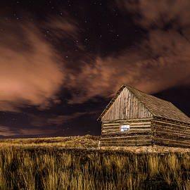 Night cabin by Janet Schill