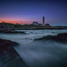 Night Falls on Portland Head - Rick Berk