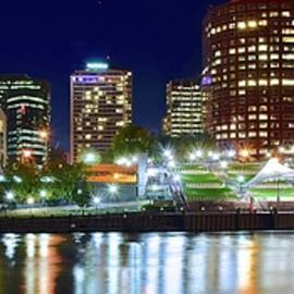 Frozen in Time Fine Art Photography - Night Pano of Hartford Connecticut