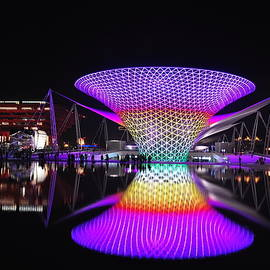 Night Scene of the World Expo Axis by Leanne Lei