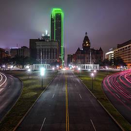 Night Skyline of Dallas Texas by Gregory Ballos