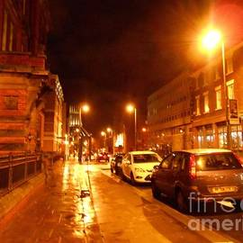 Joan-Violet Stretch - Night-time on Hope Street After the Rain 2
