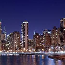 Frozen in Time Fine Art Photography - Night Time Pano in Chicago