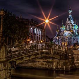 Night Walk At Sankt Petersburg by Jaroslaw Blaminsky