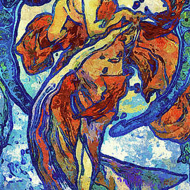 Georgiana Romanovna - Night Woman Van Gogh Style Abstract