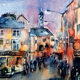 Nightfall. High St. Kilkenny City  Ireland  by Trudi Doyle
