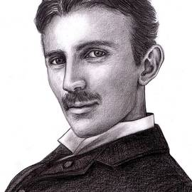 Jessica T Hamilton - Nikola Tesla Pencil Portrait