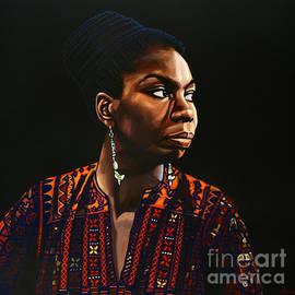 Paul Meijering - Nina Simone Painting