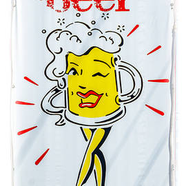 Debra Martz - Nita Beer Sign with White Vignette
