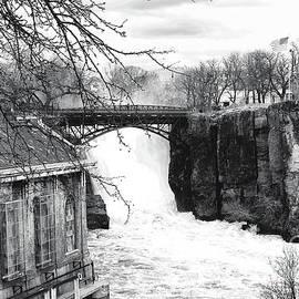 NJ Great Falls in Black and White by Regina Geoghan
