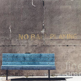 No Ball Playing - Bench by Colleen Kammerer