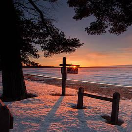 No life guard sunrise by Ron Wiltse