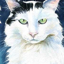 Noel Cat Painting by Dora Hathazi Mendes