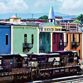 Susan Savad - Norfolk VA - Train With Two Locomotives