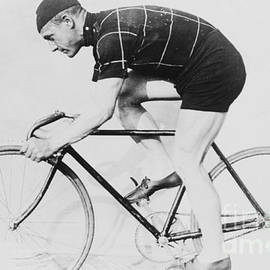 American School - Norman Anderson on a racing bicycle, 1914