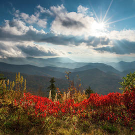 Dave Allen - North Carolina Blue Ridge Parkway Scenic Landscape in Autumn