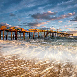 Dave Allen - North Carolina Outer Banks Nags Head Pier Seascape at Sunrise