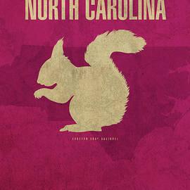 North Carolina State Facts Minimalist Movie Poster Art - Design Turnpike