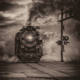 North Pole Express Steam Train 1225 BW by LeeAnn McLaneGoetz McLaneGoetzStudioLLCcom