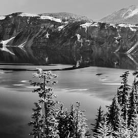 Frank Wilson - North Rim Crater Lake B W