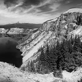 Frank Wilson - North Rim Of Crater lake B W