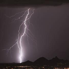 North Scottsdale Lightning Strike by James BO Insogna