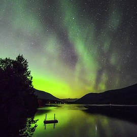 Joy McAdams - Northern Lights Over Kootenay Lake