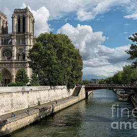 Notre Dame Cathedral Paris by Lynn Bolt