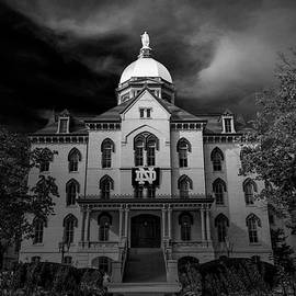 Notre Dame University Black White 3a by David Haskett II